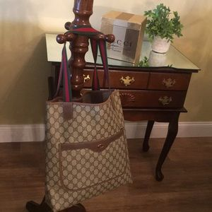 Authentic Shelly Line GG Pattern ToTe  Large